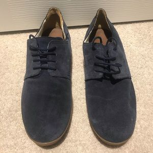 Zara Man blue suede leather shoes